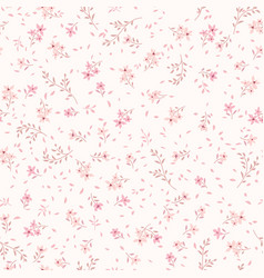 floral seamless pattern ornamental flowers white vector image