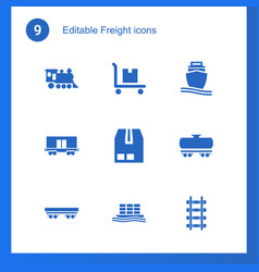 freight icons vector image