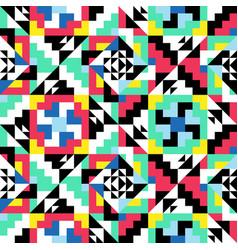 geometric symmetric pattern decorative colorful vector image