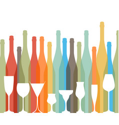 glasse to alcohol vector image