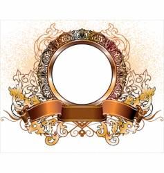 gold heraldic vector image