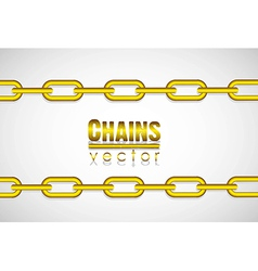 Gold link chain isolated on white background vector