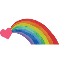 Heart and rainbow vector