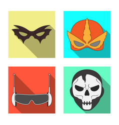 hero and mask icon vector image