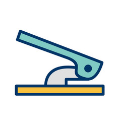 Hole puncher icon vector