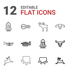 horn icons vector image