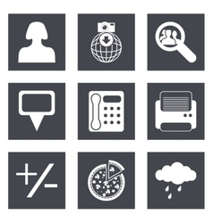 Icons for Web Design set 49 vector