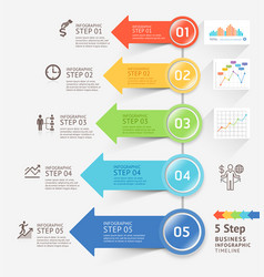 infographics arrows design template illust vector image