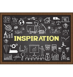 Inspiration on chalkboard vector