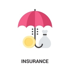 insurance icon concept vector image