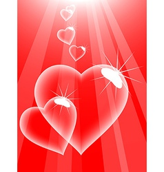 Love bubbles vector image