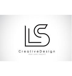 Ls l s letter logo design in black colors vector