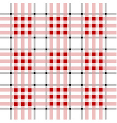 lumberjack plaid pattern tartan plaid seamles red vector image