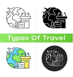 Mice tourism icon vector