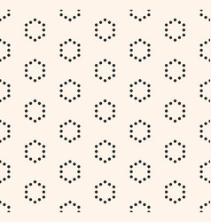 Minimalist seamless pattern hexagonal grid vector