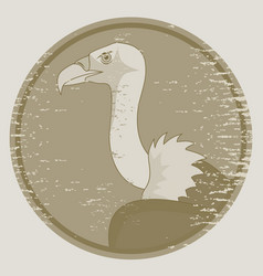 old vulture vector image