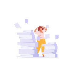Paper work flat icon vector
