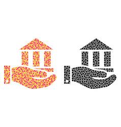 Pixel bank service mosaic icons vector