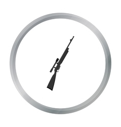 Rifle sniper gun icon cartoon Single weapon icon vector