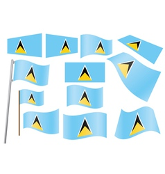 Saint Lucia Flag vector image