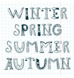 Season words vector