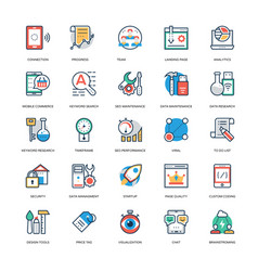 Seo and marketing icons 9 vector