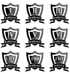 set 100 guarantee labels vector image
