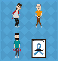 set of movember prostate cancer vector image