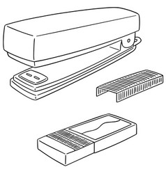set of stapler vector image