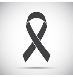 Simple grey ribbon icon vector
