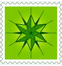 Star stamp vector