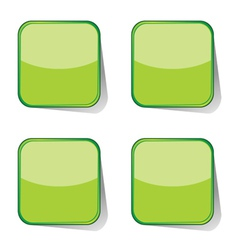 Stickers green vector