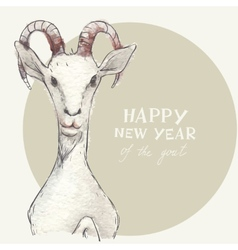 The Goat - a New Year Symbol of 2015 vector