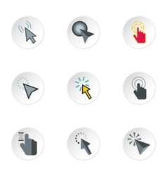 Types of arrows icons set flat style vector