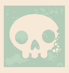 vintage design a skull in art vector image