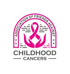 vintage logo cancer community vector image