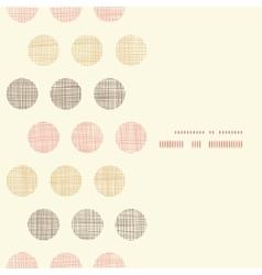 Vintage textile polka dots vertical frame seamless vector image