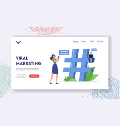 viral marketing landing page template people vector image
