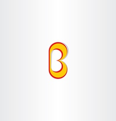 Yellow red logo letter b icon vector
