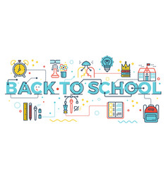 back to school concept vector image vector image