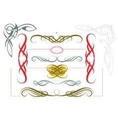 Elegant borders and frames vector image