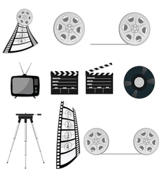 Film tape old part four vector