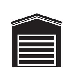 garage icon on white background garage sign flat vector image vector image