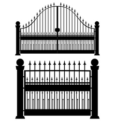 Iron Gate Silhouette vector image vector image