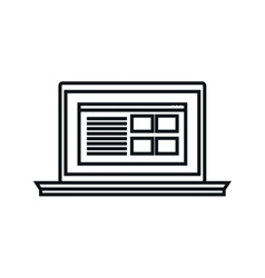 laptop computer device isolated icon vector image vector image