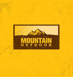 outline logo of mountain landscape line vector image