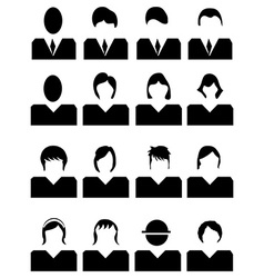 People avatar icons set vector image vector image