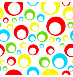 Seamless tileable pattern with colorful circles vector