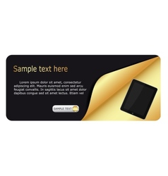 tablet promotion banners vector image