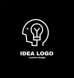 creative idea logo template design vector image